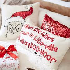 Christmas Pillows Pottery Barn The Grinch Pillow Covers Pbteen