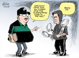 Andy Reid and Bill Belichick cartoon