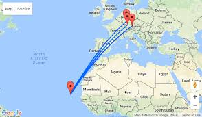 cape verde map world minute flights from several german cities to cape verde from