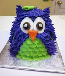 purple and green owl first birthday cake cakecentral com