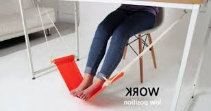 desk feet hammock for comfortable your office home foot rest with