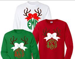 christmas shirts christmas reindeer monogrammed shirt baileywicks