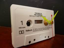 neil diamond cassette tape desk clock 70s music unique retro gift