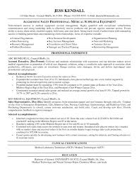 Resume Medical Representative Medical Device Sales Resume Examples