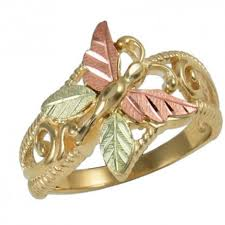 butterfly rings gold images 10k gold butterfly ring blackhillsgold direct klugex jpg