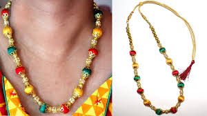 necklace designs making images How to make silk thread necklace silk thread necklace designs jpg