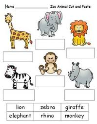 zoo animals cut and paste on zoo pinterest board at www