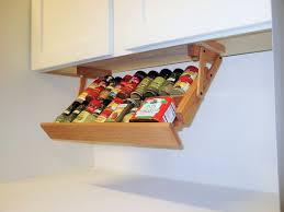 creative kitchen storage idea under cabinet spice rack do it