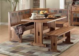 Rustic Kitchen Designs Photo Gallery Attractive Rustic Kitchen Table With Bench Also Fabulous Decor