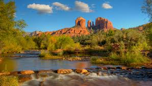Cathedral Rock Reflections At Sunset Red Rock Crossing Sedona U2022 Personalized Vortex Tours In Red Rock Country
