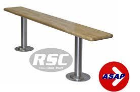 locker benches 12 u0027 u0027 wide wood locker room benches with pedestals