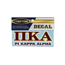 pike garnet sewn on letters tee top fraternities pi kappa alpha