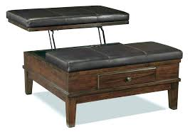 Leather Storage Ottoman Coffee Table Square Ottoman Storage Klyaksa Info