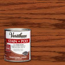 Wood Stain Medium Stain Water Based varathane 1 qt traditional cherry stain and polyurethane case of