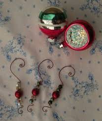 beaded ornament hangers set of 10 ornament and etsy