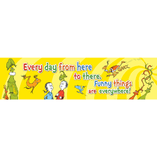 dr seuss one fish two fish classroom banner eureka