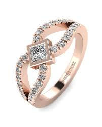 gold promise rings princess promise ring in gold with real diamond shiree odiz