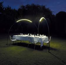 Outdoor Fence Lighting Ideas by Halley Produces An Arc Of Light For Outdoors Design Milk