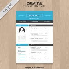 Free Resume Templates Design Download Creative Resume Templates Creative Resume Template Vector