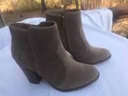 s suede ankle boots size 9 breckelle s s ankle boots booties size 9 chunky heel faux
