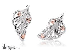 feather stud earrings debutante feather stud earrings clogau gold