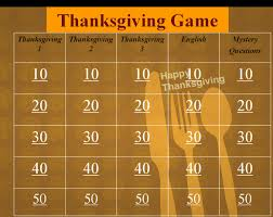 thanksgiving activities for jeopardy