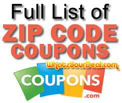 coupons com zip code coupon list all secret coupons by zipcode