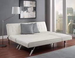 white leather tufted futon white leather futon with chaise lounge
