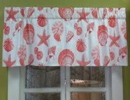 Sea Shell Curtains Seashell Curtains And Valances Seashell Valance Coastal Print