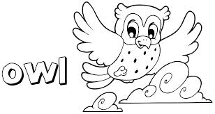 cartoon owl coloring coloring pages preschool glum