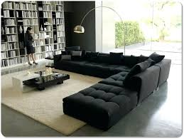 Black Sectional Sofa With Chaise Sectional Sofas Black Sectional Sofa In A Library Like