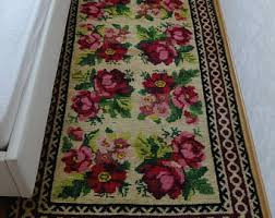 Floral Runner Rug Floral Kilim Etsy