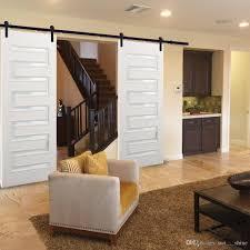 Barnwood Cabinet Doors by 2017 8ft Double Sliding Barn Wood Door Hardware Cabinet Closet Kit