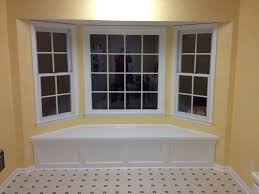 Under Window Storage Bench by Perfect Minimalist Bay Window Seat Design Ideas With White Tones