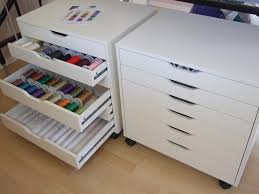 Desk Organizer Ikea by Ikea Cabinets Called Alex For Thread Storage Sew Addicted