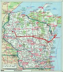 Map Of Wisconsin by Cranberry Morning Cave Point Door County Wisconsin