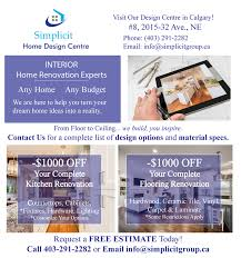 simplicit home design centre got coupons olds olds alberta