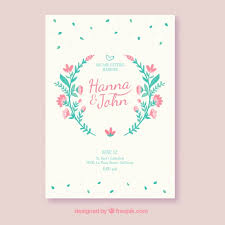 wedding invitations freepik wedding invitation with pink flowers vector free