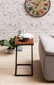 Wohnzimmertisch 100 X 60 Finebuy Beistelltisch Olaka Z Form Massivholz Metall 45 X 30 X