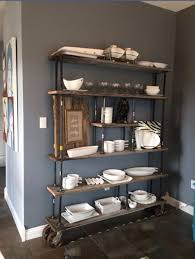 love the shelf and the paint color is benjamin moore hearthstone
