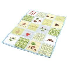 ikea vandring ruta crib duvet comforter blanket green hedgehog