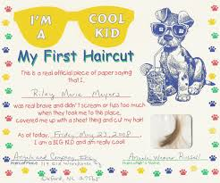 certificate free templates first haircut certificate free my cakepins com stuff pinterest