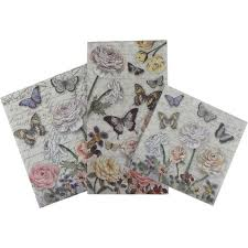 butterfly punch studio napkins 3 sizes