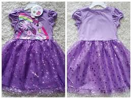 cartoon my little pony dresses purple tutu dress for girls cotton
