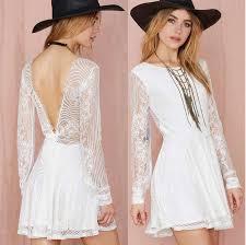 turmec short white lace dress quarter sleeve
