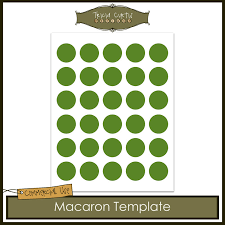 macaron baking sheet template from triciacurtis on etsy studio