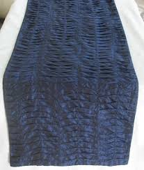 Navy Blue Table Runner Table Runner Pleated Textured Coffee Table Runner