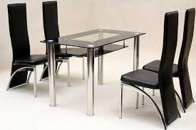 round table with chairs for sale furniture minimalist glass dining table with 4 leather dining