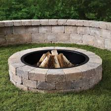 Firepit Liner Anchor Fresco 52 In X 12 In Northwoods Concrete Pit Kit