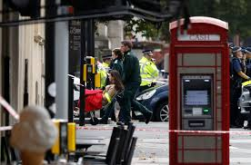 police car crash in london is traffic accident not terror news